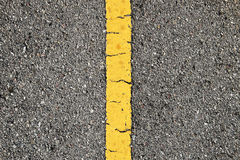 Asphalt Road With Yellow Strip photo stock