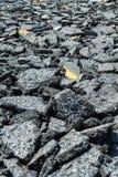 Asphalt roads were destroyed Royalty Free Stock Photos