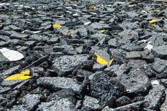 Asphalt roads were destroyed Royalty Free Stock Images