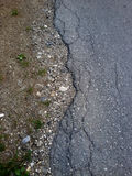 Asphalt roadside Royalty Free Stock Photo