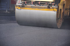 Asphalt roller Stock Photo
