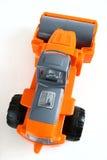 Asphalt roller. Toy asphalt roller isolated on white Royalty Free Stock Images