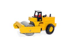 Asphalt roller. Toy asphalt roller isolated on white Royalty Free Stock Photography