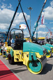 Asphalt roller Ammann in the exhibition Construction Equipment and Technologies 2013  in Moscow Royalty Free Stock Image