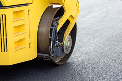 Asphalt roller closeup Royalty Free Stock Images