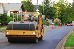 Asphalt Roller Royalty Free Stock Photo