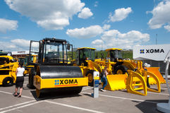 Asphalt roller XGMA on exhibition in Moscow, Russia Royalty Free Stock Photography