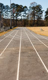 Asphalt Running Track Straight Away Stock Images