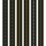 Asphalt. Set of road types with markings. Highway strip template design for infographic. Vector illustration.  Stock Photography