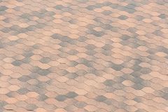 Asphalt Shingles Photo. Close up view on Asphalt Roofing Shingles Background. Roofing Repair. royalty free stock images