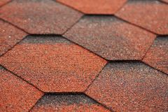 Roof tiling texture Stock Images