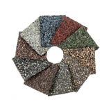 Asphalt shingles samples Stock Photos