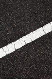 Asphalt with slope white line Stock Photo