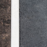 Asphalt and soil Stock Photos
