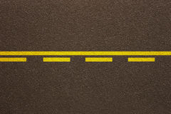 Asphalt Solid Dashed lines Royalty Free Stock Image