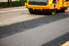 Asphalt spreader Royalty Free Stock Images