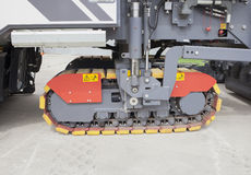 Asphalt spreading machine detail Stock Photo