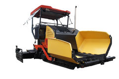 Asphalt spreading machine Stock Images