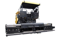 Asphalt spreading machine Stock Photos