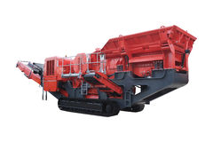 Asphalt spreading machine Royalty Free Stock Images