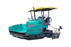 Asphalt spreading machine Royalty Free Stock Photo
