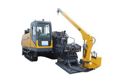 Asphalt spreading machine Stock Image
