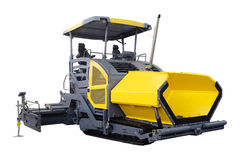 Asphalt spreading machine Royalty Free Stock Image