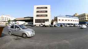 South Jeddah Mall At Noon With Fisheye Lens Stock Video - Video of