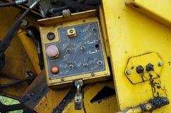 Asphalt street paving machine. Mechanical view of components Stock Photos