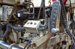 Asphalt street paving machine. Mechanical view of components Stock Images