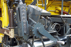 Asphalt street paving machine. Mechanical view of components Royalty Free Stock Image