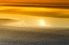 Asphalt at sunset Royalty Free Stock Images