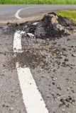 Asphalt surface demolished Royalty Free Stock Photo
