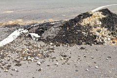 Asphalt surface demolished Stock Photos