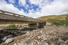 Asphalt tar road and bridge in Lesotho. Stock Photos