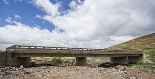 Asphalt tar road and bridge in Lesotho. Stock Photography