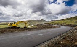 Asphalt tar road in Lesotho Stock Images