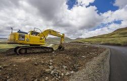 Asphalt tar road in Lesotho Stock Photos