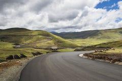 Asphalt tar road in Lesotho Royalty Free Stock Images