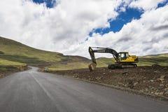 Asphalt tar road in Lesotho Royalty Free Stock Photography