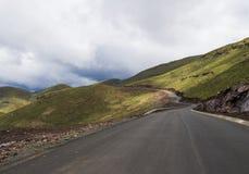 Asphalt tar road in Lesotho Stock Photography