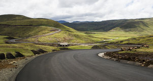 Asphalt tar road in Lesotho Stock Photo