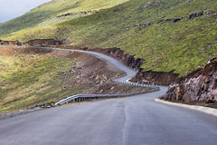 Asphalt tar road in Lesotho mountains Royalty Free Stock Image