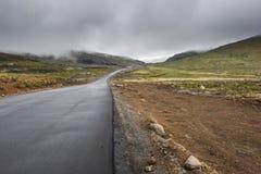 Asphalt tar road in Lesotho mountains Stock Images