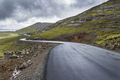 Asphalt tar road in Lesotho mountains Royalty Free Stock Photography