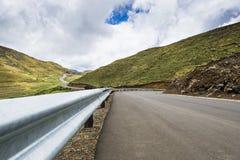 Asphalt tar road in Lesotho mountains Stock Photos