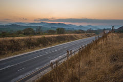 Asphalt tar road in South Africa Royalty Free Stock Photography