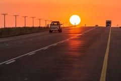 Asphalt tar road in South Africa Stock Photo