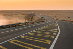 Asphalt tar road in South Africa Royalty Free Stock Photo