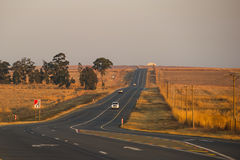 Asphalt tar road in South Africa Stock Photography